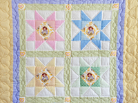 Pastel Stars Crib Quilt