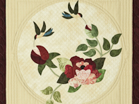 Burgundy and Neutral Rose Garden Wall Hanging