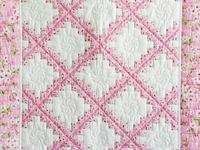 Perfect Pink Cherry Blossom Irish Chain Crib Quilt