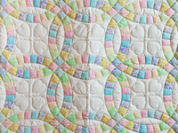Pastel and Cream Wedding Ring Crib Quilt