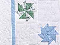 Multicolor Pastel Pinwheels Crib Quilt