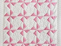 Princess Pink and White Pinwheel Crib Quilt