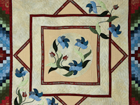 Rainbow Reflections Wall quilt Reds/blues/greens/on ivory