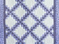 Lavender Dragonfly Irish Chain Crib Quilt