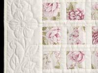 Rose Floral Delight Crib Quilt