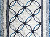 Blue Mini Wedding Rings Crib Quilt