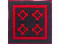 Miniature Indiana Amish Red and Black Hole in Barn Door Wall Hanging