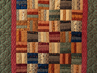 Antique Colors Fence Rail Quilt