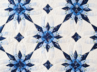 Navy and Blue Wedding Ring Star Quilt