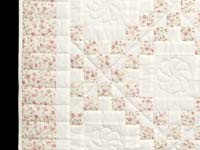 Dusty Rose and Cream Irish Chain Crib Quilt