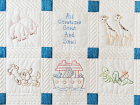 Noah's Ark Embroidered Crib Quilt
