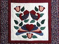 Burgundy and Multicolor Country Bride Wall Hanging