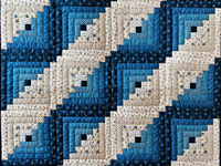 Navy and Blue Log Cabin Crib Quilt