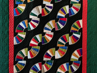 Indiana Amish Old Fashioned Fans Quilt