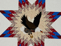American Eagle and Lone Star Wall Hanging Patriotic USA theme
