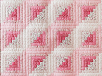 Pretty Pink Log Cabin Crib Quilt