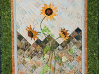 Sunflower Mountain -  Patchwork/Applique and Quilting combination