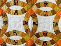 Autumn Colors Wedding Ring Quilt