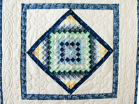 Cream, Navy and Multicolor Sunshine and Shadows Wall Hanging