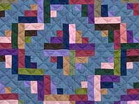 Indiana Amish Log Cabin Quilt