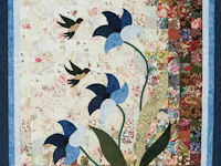 Morning Splendor Watercolor Wall Hanging Beautiful Blues