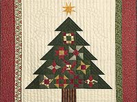 Patchwork Sampler Christmas Tree Wall Hanging