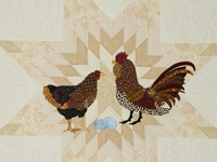 Chicken Scratch and the Lone Star Combination - Blue trim