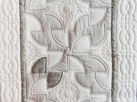 Indiana Amish Gray and White Solomon's Puzzle Crib Quilt