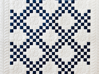 Navy and White Irish Chain Quilt