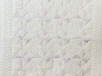 Delicate Lavender and White Pinwheel Crib Quilt