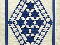 Indiana Amish Blue and Cream Star of David Wall Hanging