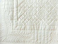 Pure White, Satin and Lace Crib Quilt