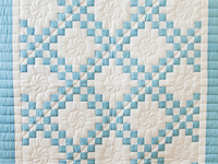 Beautiful Blue and White Irish Chain Quilt