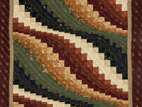 Classic Bargello Wave Burgundy, Navy, Green, Ivory and Cheddar Gold