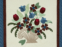 Blues/burgundy/greens 