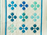 Beautiful Blue and White Bear's Paw Quilt