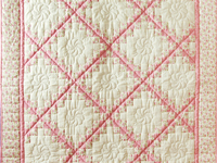Princess Pink, Floral and Cream Irish Chain Quilt
