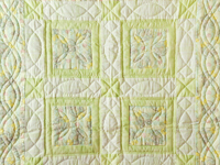 Shades of Green Precious Moments Crib Quilt