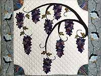 Wisteria Applique Wall Hanging