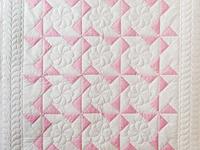 Princess Pink & White Pinwheel Crib Quilt
