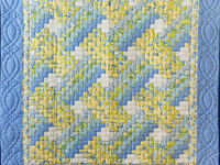 Beautiful Blue & Yellow Weaver Fever Wall Hanging