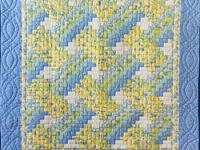 Beautiful Blue & Yellow Weaver Fever Wall Hanging