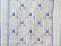 Soft Lavender & White Nine Patch Crib Quilt