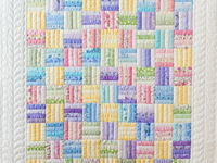 Pastel & White Fence Rail Crib Quilt
