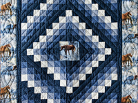 Beautiful Horses Trip Around The World Quilt