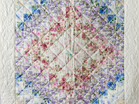 Watercolor Floral Trip Around The World Quilt
