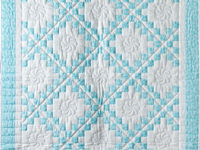 Aqua and White Irish Chain Quilt