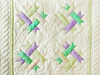 Green, Lavender and White Susan's Crib Quilt