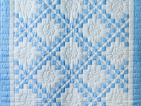 Whimsical Blue & White Irish Chain Quilt