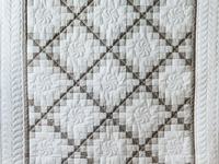 Winter Gray and Natural Irish Chain Quilt